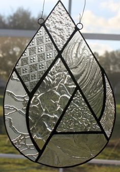 Cool Stained Glass Art! » Crystal Raindrop » by GleamingColours on Etsy.com