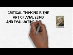What is Critical Thinking? A Definition [I was so distracted by the fascinating drawings that I couldn't concentrate on the content, but this is an interesting video.]