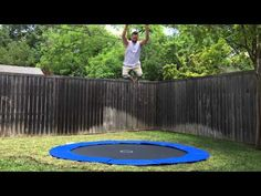 In-ground Trampoline we had done in Dallas, TX. Jumpy Joey Trampoline Co...