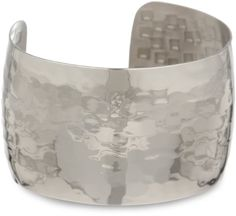 Stainless Steel Hammered Cuff