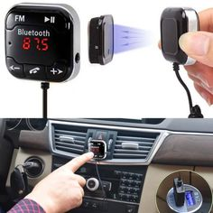 Flash Deals $11.14, Buy Bluetooth Car Kit Wireless Bluetooth FM Transmitter MP3 Player 3.5mm Audio AUX Bluetooth FM Module for car-styling