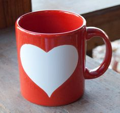 German Waechtersbach Coffee Mug -- Red And White