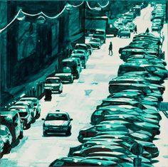Monokróm Vörösmarty utca  2013 olaj-vászon 80x80