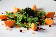 New Korean Salad Chrysanthemum Greens, Chestnut, Persimmon @Lori Lynn Hirsch Stokoe