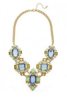 Bauble Bar Aqua Versailles bib necklace