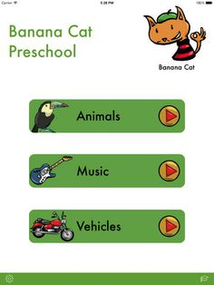 FREE app Dec 2 (reg 4.99) Banana Cat Preschool for iPad - teach your little children about animals, music and vehicles