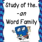 This unit provides plenty of fun, learning centered around the -an word family! Students will have plenty of practice learning new words, writing t... #teachers #tpt