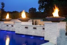 JFY Designs + Shane McFarland Construction Home in the Grove, Franklin TN Luxury Homes Exterior, Luxury Modern Homes, Luxury Houses, Exterior Design, Backyard Pool Designs, Swimming Pools Backyard, Backyard Landscaping, Modern Pools, Luxury Pools