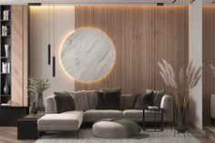 modern living room design on Behance Hall Room Design, Living Room Wall Designs, Living Room Partition Design, Room Partition Designs, Hall Interior, Apartment Interior, Interior Design Living Room, Modern Room Design, Modern Minimalist Living Room