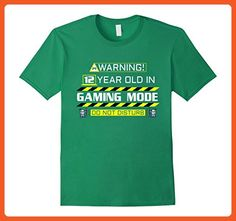 Mens 12 Year Old Gaming Mode - Video Gamer 12th Birthday T-Shirt Large Kelly Green - Gamer shirts (*Partner-Link)