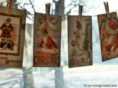 vintage christmas cards...<3