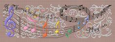 Maria Diaz Designs: If Music... Sampler (Cross-stitch chart)