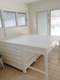 Craft Room - Studio - Home Office. Martha Stewart Craft Furniture Collection.  I finished all five pieces yesterday.