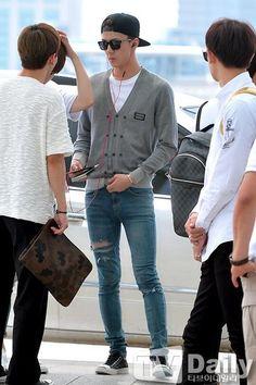 140710- EXO Oh Sehun @ Incheon Airport to Taipei #exok #mens #fashion
