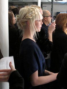 #tresse #chignon #blond