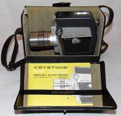 Vintage Keystone 8mm Reflex Auto Zoom Movie Camera, Model K-12, Made In USA, Circa 1963 | by France1978