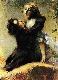 """""""L'edera"""". Tranquillo Cremona, 1878; olio su tela, 133x99,5 cm; Galleria civica d'arte moderna e contemporanea, Torino."""