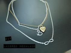 DIY Layered Necklace jewelry necklace diy infinity diy ideas diy crafts do it yourself crafty diy jewelry diy pictures