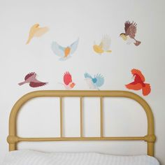 Small Flying Twitter Decals - Earthy