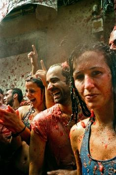 The biggest food fight in the world: La Tomatina