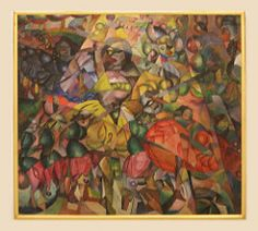 Aristarkh Vasilievich Lentulov (1882-1943) A Ballet Theme, 1912, oil on canvas (Sergei P. Zubkov) Tags: november art painting czech prague praha fair palace trade 2011 veletržní