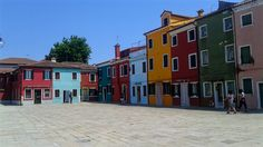 Square in Burano Venice