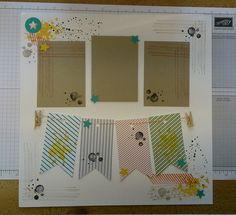 Scrapbook page - Stampin up - Demo day