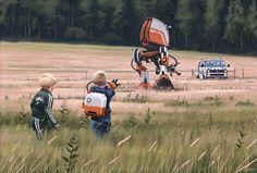 Simon Stålenhag's Retro Sci-Fi Images of a Dystopian Swedish Countryside Gathered Into Two New Books  http://www.thisiscolossal.com/2015/05/simon-stalenhag-retro-sci-fi/