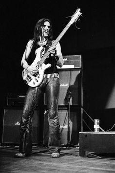 Motorhead: Lemmy on stage, photographed by Steve Emberton, 1977