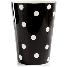 Kate Spade New York Deco Dot Wastebasket ($50) ❤ liked on Polyvore featuring home, bed & bath, bath, bath accessories, wastebasket, polka dot bathroom accessories, kate spade bath accessories, kate spade, polka dot bath accessories and kate spade bathroom accessories