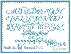 Posh script formal font