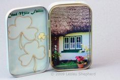 Make Easy Miniature Projects for Leprechaun Traps or Irish Scenes: Decorate a Mint Tin For St. Patrick's Day Treasures