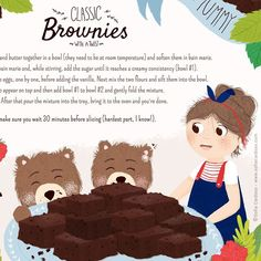 Classic Brownies illustrated recipe by Sofia Cardoso - They Draw & Cook