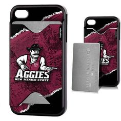New Mexico State Aggies Apple iPhone 4/4s Credit Card Case