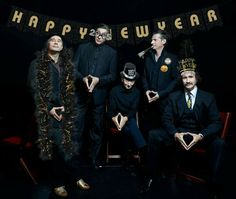 Einstürzende Neubauten wishing us a happy new year in 2015.