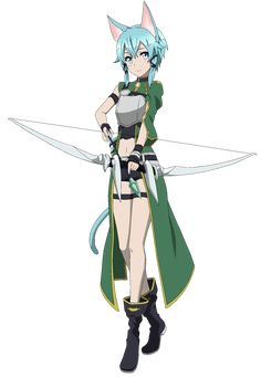 sword art online sinon | Sinon (Sword Art Online) Minimalist Wallpaper by greenmapple17 on ...