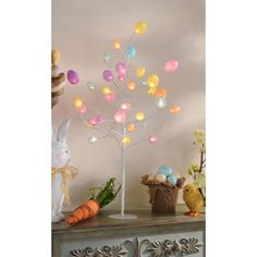 Light up your home this Easter with the Pre-Lit LED Easter Egg Tree! #kirklands #BunnyLove