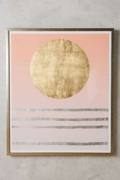 DIY This $2000 Anthropologie Wall Art for Less Than a Round of Drinks via Brit + Co