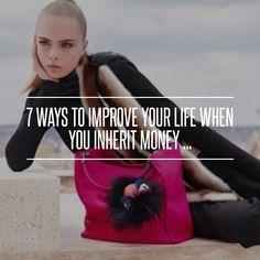 7 Ways to #Improve Your Life when You Inherit Money ... → Money #Money
