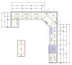 Kitchen Cabinet Floor Plans