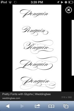 Possible tattoo fonts! #pretty #fonts #writing