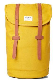 yellow rucksack