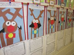 If Rudolf looking in my window over the holidays, this is what he would see!  Incorporate math with cutting shapes for rudolf figure