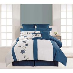 Found it at Wayfair - Saratoga 8 Piece Comforter Set in Blue http://www.wayfair.com/daily-sales/p/Comforters%2C-Quilts-%26-Duvet-Covers-Under-%2499-Saratoga-8-Piece-Comforter-Set-in-Blue~LXH1982~E18274.html?refid=SBP.rBAZEVS7QAaBIhUSpmohAo3B2cXrXUivtRNfXcHSBhA