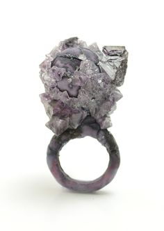 Mixed Media ring by Wenhui Li