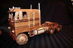 Cab-Over (Engine) Tractor Rigg Wooden Toy Trucks, Wooden Toys, Tractor Cabs, Wood Toys Plans, Cab Over, Pinewood Derby, Semi Trucks, Wood Projects, Tractors