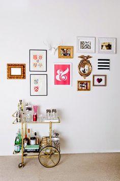 wall decoration ideas 10 camareras doradas que te harán desear tener una en casa. Ahora mismo. · 10 brass bar carts you'll want for your home. Rigth now.
