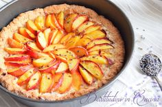 Crostata pesche e lavanda, la torta che profuma d'estate!  Lavander and peach cake <3  #recipe #ricetta #cake #peach