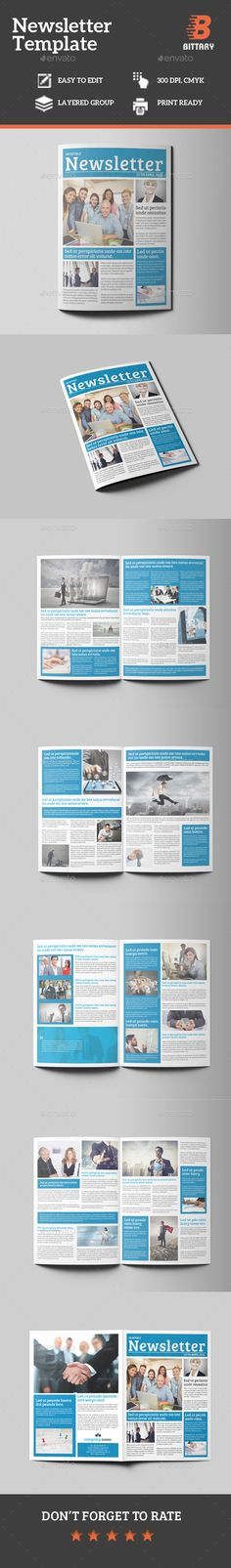 Business Newsletter This Is A Template Fully Editable In InDesign Features Created On Adobe Indesign Print Dimension Mm