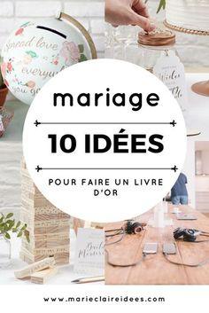 Faire un livre d'or pour son mariage / DIY mariage